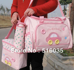 Wholesale Fashion pieces mummy bag hot sell baby diaper bag mummy napper bag mummy shoulder bag color