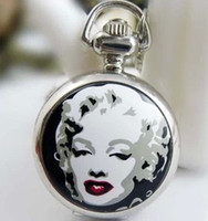 coupons - Coupon for price good quality New fashion woman girl small size cute fashion jewelry Marilyn Monroe pocket watch hour