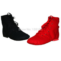 Wholesale Adult soft bottom canvas jazz shoes high top shoes practice dance shoes modern dance shoes for men and women