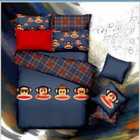 Wholesale Freeing shipping Childhood memory cotton Reactive printed Bedding set pillowcases bed sheet duvet cover set