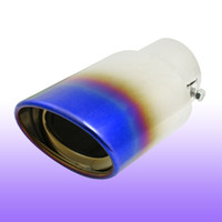 Muffler exhaust pipe for muffler - 5 cm Inlet Stainless Steel Exhaust Pipe Silencer Tail Muffler Tip for Vehicle