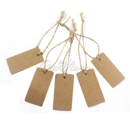 Wholesale 100Pcs X2 CM Blank Kraft DIY Label Bookmark Paper Tags Wedding Event Gift Tags With Line SQ