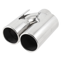 Wholesale 60mm Inlet Dual Tip Stainless Steel Exhaust Resonator Muffler Pipe for BMW X1
