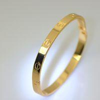 Wholesale High Quality Brand Bracelets Fashion Jewelry k Real Gold Plated Classic Design Trendy Unisex Bracelets Bangles br70007