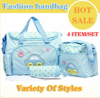 Cheap Wholesale-Free Shipping Hot 2013 fashion handbag mummy mom bag baby infant products nappy bags handbag baby large designer diapers bags