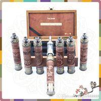 Wholesale Electronic Cigarette X Fire E Cigarette Wooden Kits with VV Mod E Fire Vaporizer Pen Wood Spinner Battery for Ego Series e Cigarette E cig