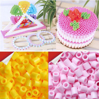 Wholesale 1KG PERLER BEADS mm colors HAMA BEADS Model Building Kit Classic Children Education Toys Adult Hand Gift P
