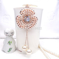 Wholesale Flower Luxury Jewelry Pearl Necklaces Pendant Fashion Jewellery necklace for women