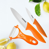 Wholesale Premium Piece Ceramic Knife Cutlery Set Inch Santoku Knife Inch Paring Knife Peeler Thanksgiiving Gift