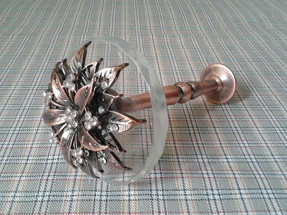 2017 Glass Curtain Tiebacks Antique Brass Metal Decorative Wall Hooks Tie Backs Hat Coat