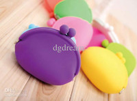 Wholesale Fashion Colourful Silicone Coin Purse Lovely Coin Bag Silicone Money Bag Pouch Puse Style Coin Wallet case
