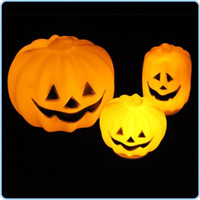 halloween pumpkin light - LED Pumpkin Light Halloween Pumpkin Different Size Pumpkins Light Party Long Pumpkin Night Lamp Plastic Pumpkin Holiday Party Props