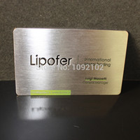 Wholesale 2014 fatory direct price and best quality guarantee customer designed metal business card