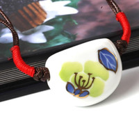 Wholesale Song of Jingdezhen blue hand woven gilt necklace couple necklace sweater chain pendant featured creative