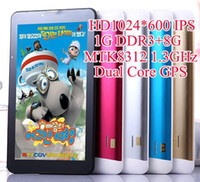 Wholesale 7 Inch IPS Screen G Phone Tablet Pc Metal Case MTK8312 Dual core GHz G G Call GPS BT FM MID Tablet HD quot Dual SIM Photoflash