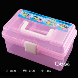 Wholesale BeautyGaGa Professional supply cm Multicolor double layer Tools Multi function plastic storage box case