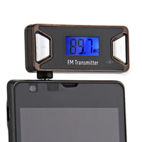 Wholesale 3 mm Wireless LCD FM Radio Transmitter for iPhone iPad Cell Phone Black
