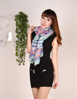 Wholesale 2014 Fashion Long Soft Women Beach Shawl Beach Sarong Aztec Tribal Scarf Muslim Hijab Fedex