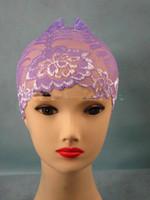 Wholesale 2014 New Muslim Ummah Hijab Underscarf Lace Tube Inner Cap