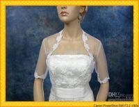 Wholesale Best Sales White Bridal Alencon Lace Chiffon Bolero Jacket Formal Wedding Wrap Stores