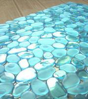 Wholesale 2014 New Non slip PVC Bath Mat for Bathroom Toilet and Kitchen random MIX Purple Blue Green White