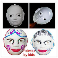 Wholesale Halloween masks Party Masks whole face white masks Full Face novelty mask masquerade masks freehand sketching Beijing Opera Facial Masks M32