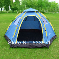 Wholesale Outdoor Camping Picnic Multifunctional Quick Automatic Opening Folding High Strength Glass Fiber Bracket Tents Person
