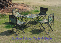 Wholesale Outdoor Iron Plastic and Canvas Folding Table and Chairs Set Camping Dining Casual Portable Garden Furniture Set