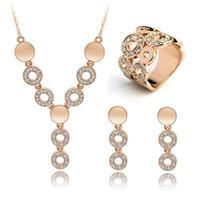 quality jewelry - 2015 New Fashion Jewelry Set K Rose Gold Plated Austrian Swarovski Crystal Jewelry Set Nickel Free High Quality for Women