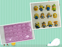 Wholesale Hot Despicable Me Minions Pattern DIY Food Mold Chocolate Ice Candy Cake Soap Topper Mould Clay Birthday Gifts