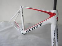Wholesale 2013 New Scott Bike Frame Road Racing Bike Frames Full Carbon Fiber Bike Bicycle Frames DIY Painting Scheme Bike Frames