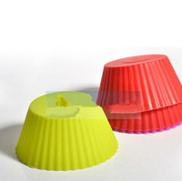Wholesale 2014 Fashion sets Round Silicone Muffin Cake Cupcake Cup Cake Mould Case Bakeware Maker Mold Tray Baking Fedex
