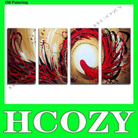 More Panel Oil Painting Abstract Free Shipping Handpainted Group Triptych Wall Paintings Home Decorative 5 Panels Modern Abstract Art Paintings for Sale cd101