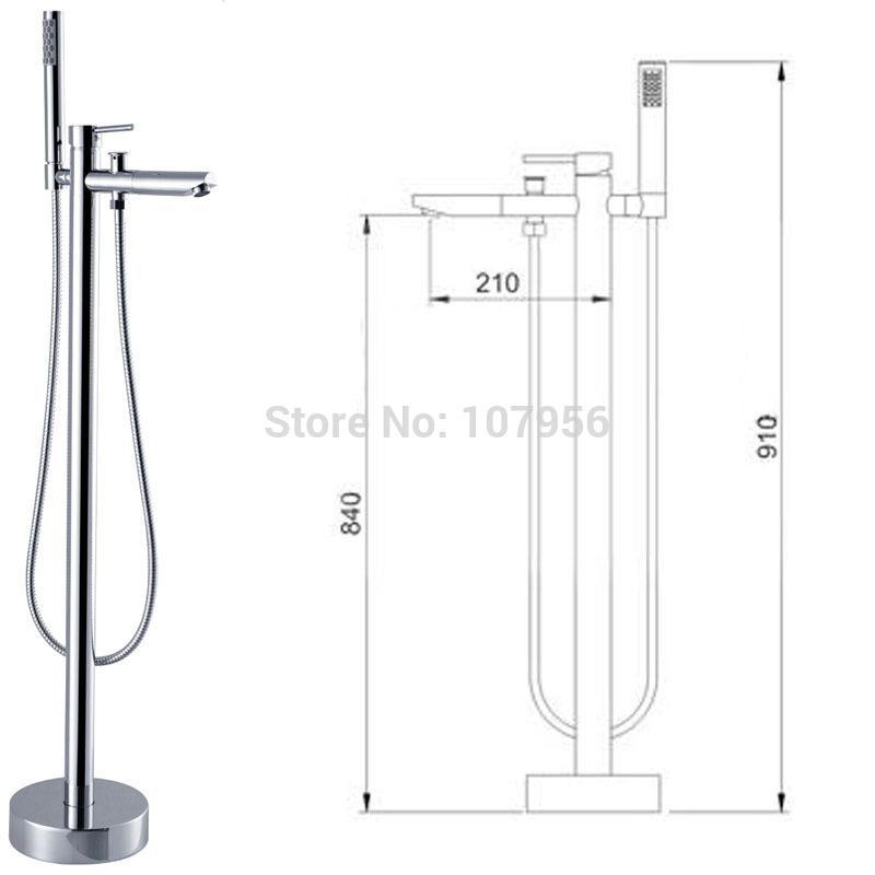 Floor Stand Faucets Bathtub Faucet Bath Shower Set Floor Showers Floor Shower
