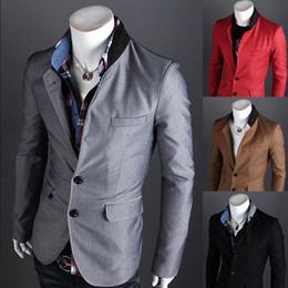 Wholesale Casual men suit hot sale single button small blazers color samll men suit out we