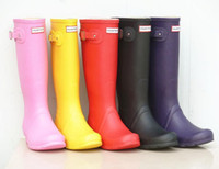 Wholesale Wellies Rainboots For Man Woment Eemperorshiop Rubber Tall Knee Rain Shoes Glossy Matt Finish Waterproof Fashion Footwear Colors to chose