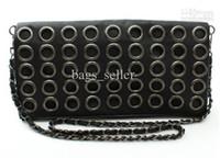 Wholesale Punk Evening Bags Black Color Ring Shoulder Strip Summer F2