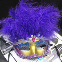 Wholesale Hot selling Lace Trimming Female Half face Party Mask with Feathers Fashion Party Masquerade Mask JM