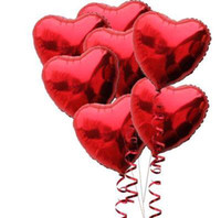 Wholesale 20pcs Lovely Love Heart Airballoon Foil Balloon Children Gifts Christmas Party Wedding Stage Adornment wq015