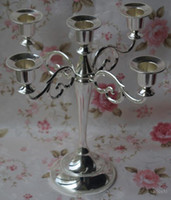 metal candle stand - Silver plated metal candle holder arms candle stand cm height candelabra