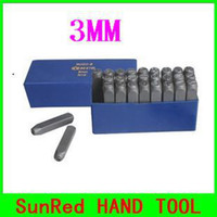 Wholesale SunRed BESTIR taiwan made MM metal stamping steel letter punch set HRC60 special high frequency quenching NO