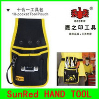 Wholesale SunRed BESTIR taiwan high quality oxford composite material black and yellow POCKET tool bag NO and retail