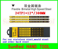 Wholesale SunRed BESTIR taiwan yellow and black high speed steel and alloy spring steel welded TPI quot band saw blades NO freeship