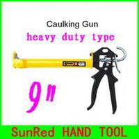 Wholesale SunRed BESTIR taiwan famous tool heavy duty open style glass sealant quot manual caulking gun with yellow handle NO freeship