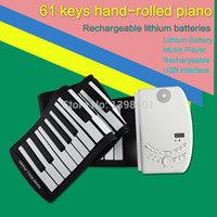 Wholesale 2014 newest Rechargeable Hand Roll Piano USB Midi Flexible Roll Up Piano Keys Portable Electronic Silicon Keyboard for kids