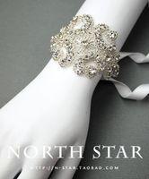 beautiful handmade bracelets - 2015 cheeap beautiful handmade super fresh new fairy bride wedding dress accessories wristlet strap handmade rhinestone bracelet