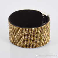 Wholesale 2014 New Handmade New Rhinestone Bling Crystal Fashion Wrap Bracelet Mix Bracelet With Bling Diff Color