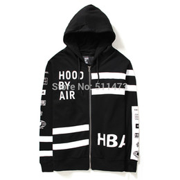 Wholesale HBA autumn new hip hop hood by air men Multiple zippers can be disassembled cotton hoodie