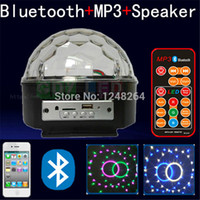 usb rgb - Bluetooth MP3 music speaker LED stage light magic ball with USB player remote controll color music home wine bar disco party