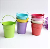 Wholesale 2014 New Mini Cute Chocolate Candy Bucket Keg Wedding Party Favors Kisses DIY